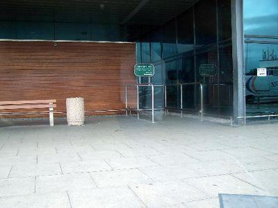 Outside Arrival Hall