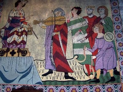 Tapestry in the castle