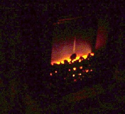 Fireplace with flash and without flash