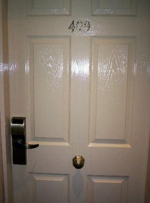 The door of our first room