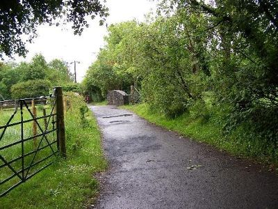 The path to Hazelbrook House