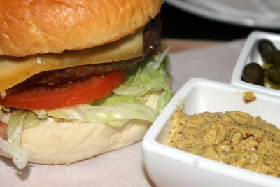 My Amsterdam burger and mustard