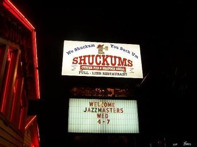 Shuckems Sign out front