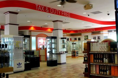 Tax and Duty Free sunglasses and watches