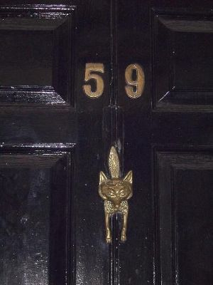 Doorknocker at the Gower House Hotel  a couple doors down the street