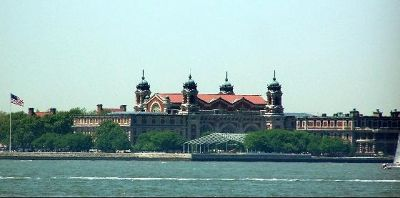 Ellis Island Visitor Center from Battery Park