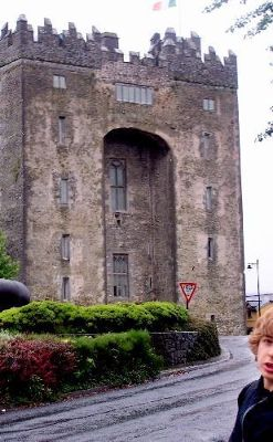 Bunratty Castle (grandson on right)
