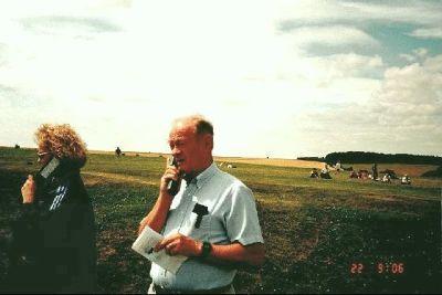 Bob with audio tour next to unknown woman