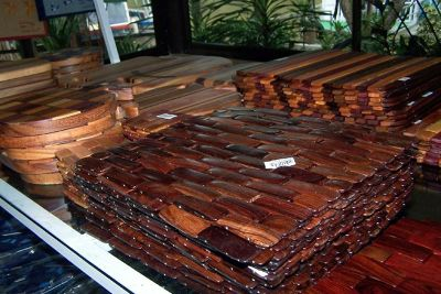 Wooden place mats