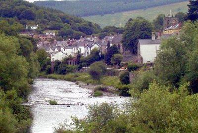 Looking downstream - River Dee