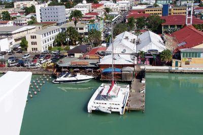 Huge catamaran at the dock - Antigua and Barbuda