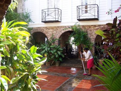 Courtyard at the hotel