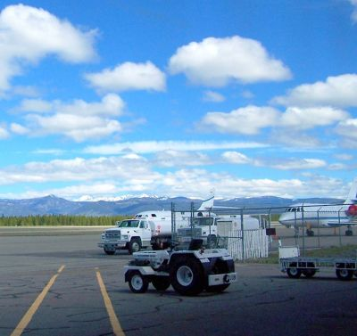 Boarding ladder and Airport vehicles