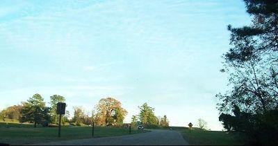 Road leading to Yorktown Battlefield