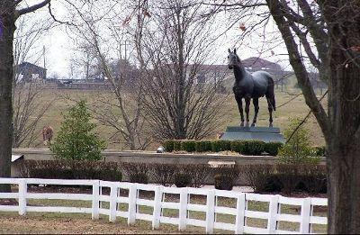 Man O War statue - Kentucky State Horse Park