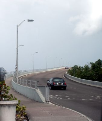 Nassau end of the bridge