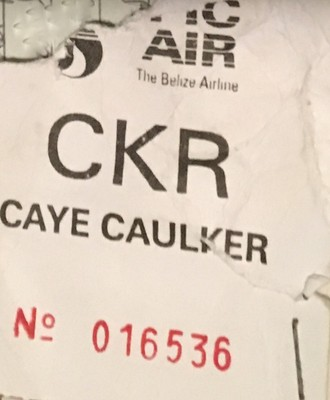 Tropic Air ticket to Caye Caulker
