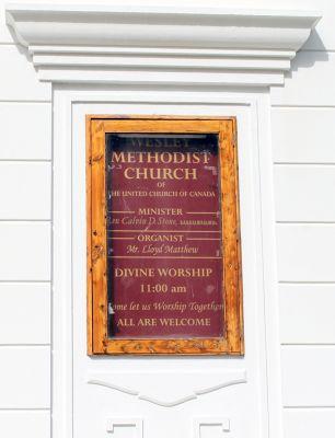 Hamilton City Methodist Church sign in Hamilton