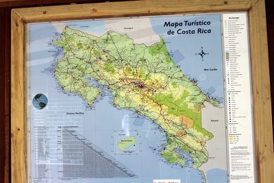 Map of Costa Rica for tourists