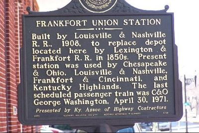 Frankfort Union Station sign - Frankfort