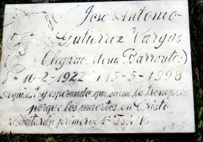 Grave of Jose Antonio Gutierrez Vargas