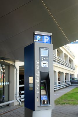 Machine to pay parking at the airport
