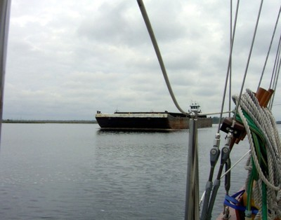 Second Barge approaching