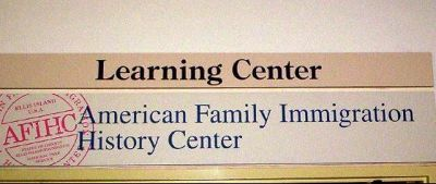 Sign on American Family Immigration Center