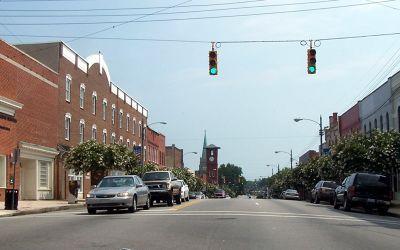Main street in Henderson