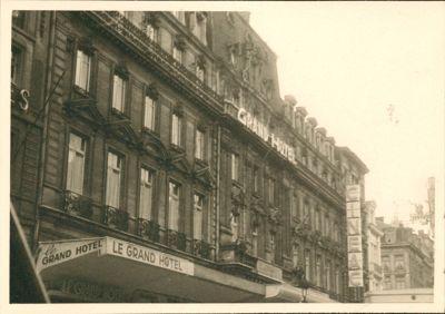 Facade of the hotel 1950