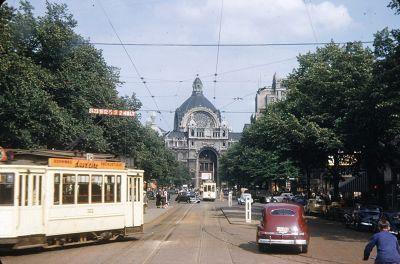 Street Scene in Antwerp - 1950