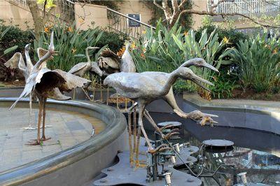 sculpture outside aquarium