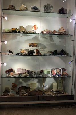 display of minerals