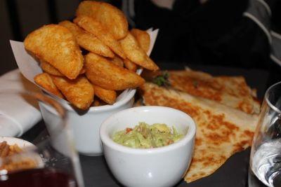 chicken quesadillas and boardwalk fries