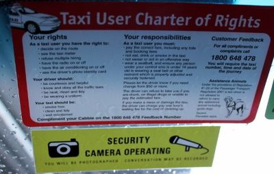 Passenger's taxi rights