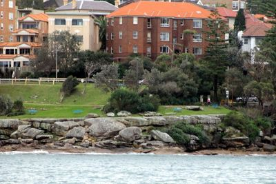 Buildings on the shore
