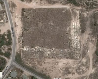 Earth view of the public cemetery  - Grand Turk