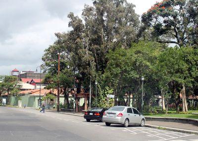 Down Calle 9 by the park toward Sleep Inn