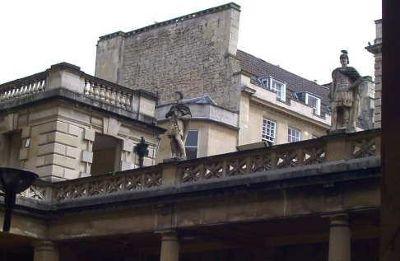 Statues on roofline