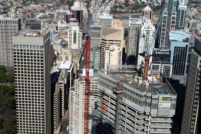 Skyscrapers and cranes