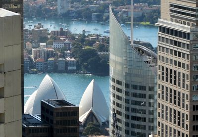 Between buildings from the Sydney Tower
