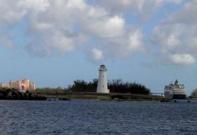 Hog Island Lighthouse 2002 with Atlantis in the background