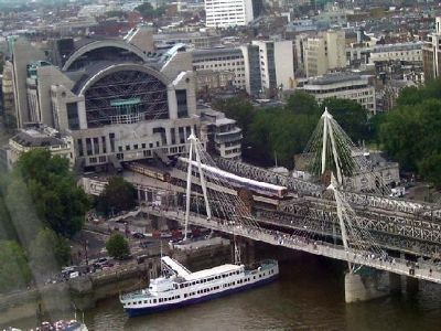 Charing Cross station and HMS Belfast