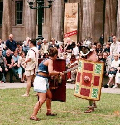 Mock battle (Roman gladiators)