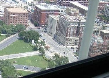 Dealey Plaza and School Book blg from Reunion