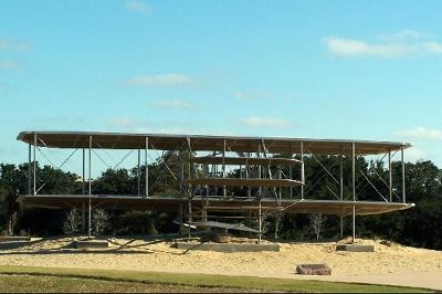 Sculpture of the plane - Wright Brothers National Memorial