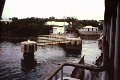 The ferry dock in Sandy's Parish