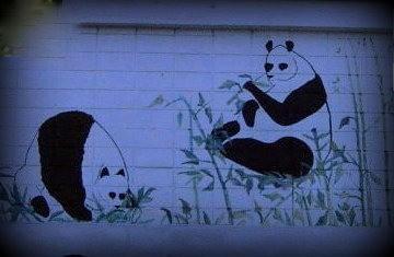 Panda House sign