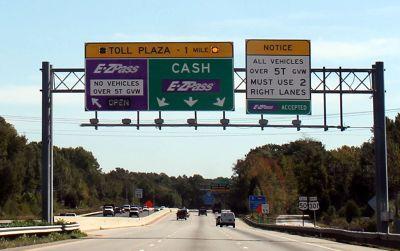 Lanes for EZ Pass
