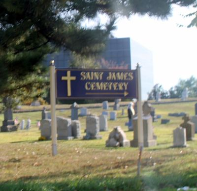 Driving by St James Cemetery